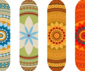 Skateboard design material vector 10