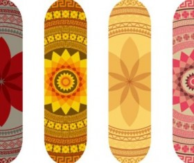 Skateboard design material vector 11