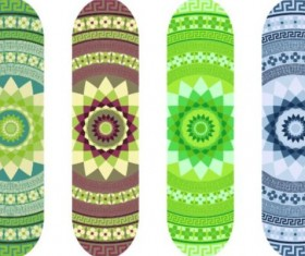 Skateboard design material vector 12