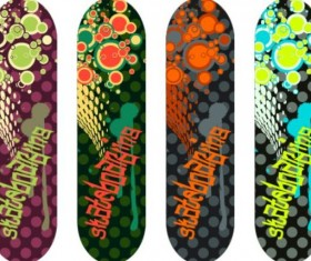 Skateboard design material vector 13