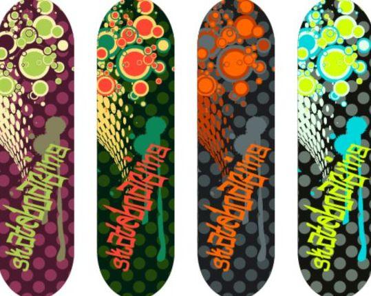 Skateboard design material vector 13