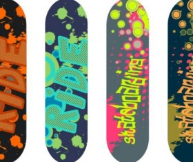 Skateboard design material vector 14