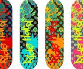 Skateboard design material vector 15