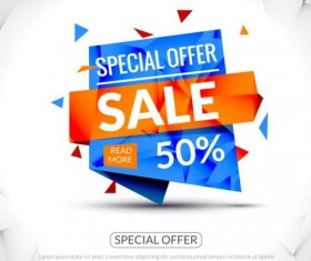 Special offer sale labels vector 01