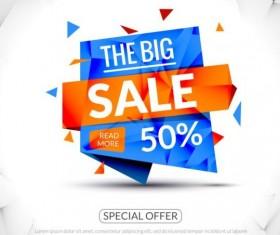 Special offer sale labels vector 08