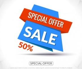 Special offer sale labels vector 10