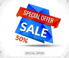 Special offer sale labels vector 11