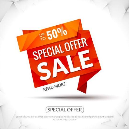 Special offer sale labels vector 12