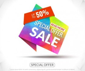 Special offer sale labels vector 13