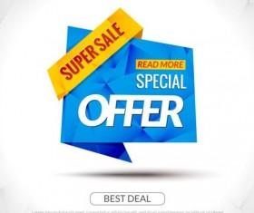 Special offer sale labels vector 14