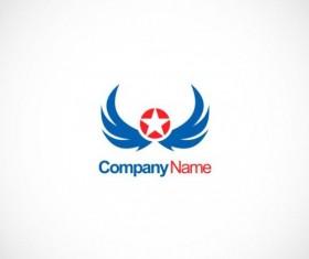 Star wing emblem company logo vector