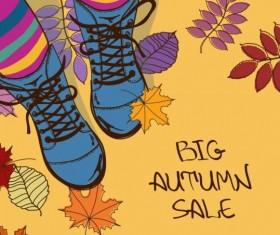 Summer big sale woman shoes vector 01