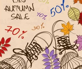 Summer big sale woman shoes vector 02