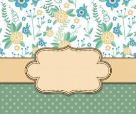 Summer flower with vintage vector background