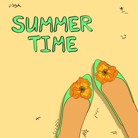 Summer woman shoes vector