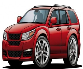 Suv car design vector 01