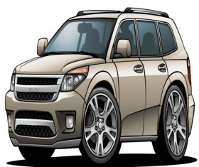 Suv car design vector 02