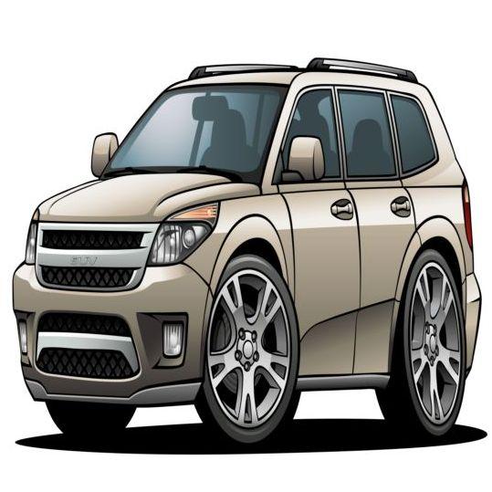 Suv car design vector 02