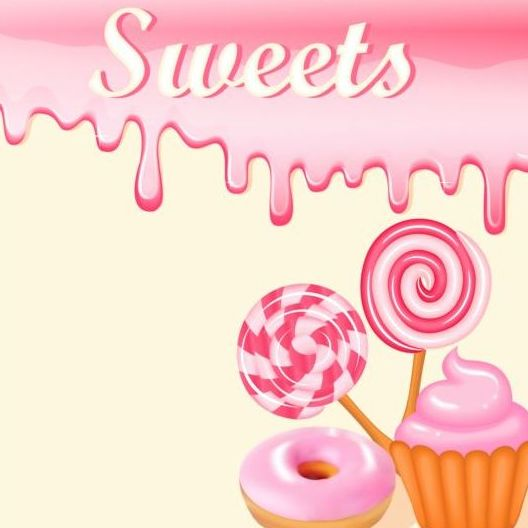 sweet candy with drop background vector 01 free download
