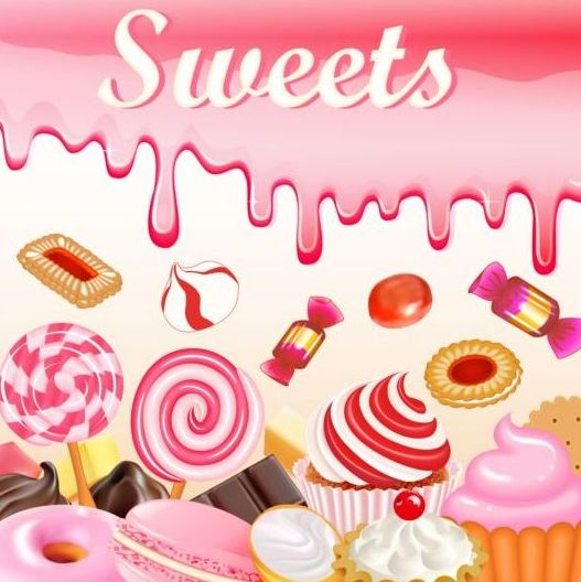 sweet candy with drop background vector 02 free download