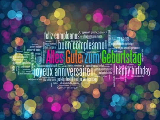 Tag cloud with halation background vector 05