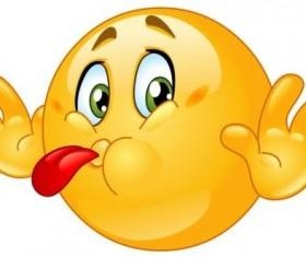 Tongue out emoticon icon