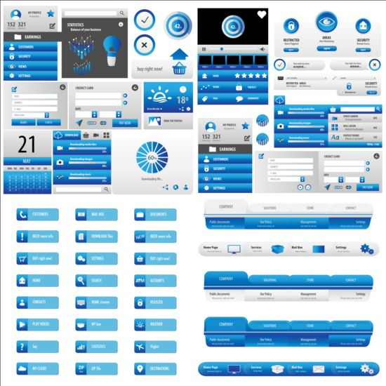 User interface statistics vectors kit