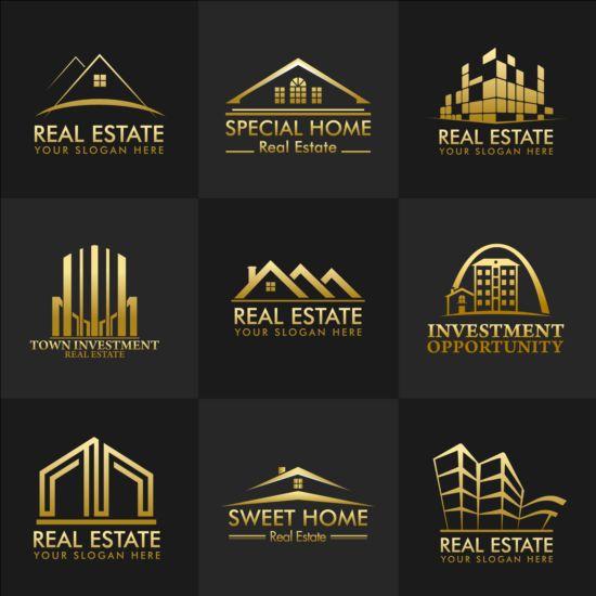 Vector Real Estate Logos Set Free Download