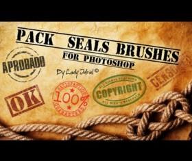 Vintage badges PS Brushes