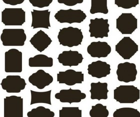 Vintage black frame vector material 01