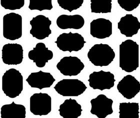 Vintage black frame vector material 02