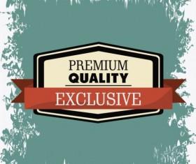 Vintage premium and quality label vector 01