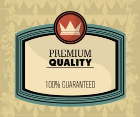 Vintage premium and quality label vector 02