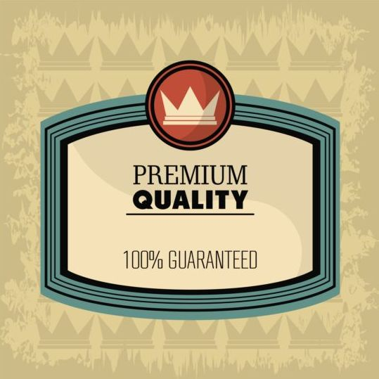 Vintage premium and quality label vector 02