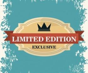 Vintage premium and quality label vector 04
