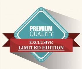 Vintage premium and quality label vector 05
