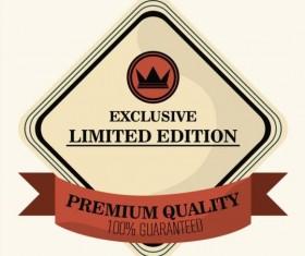 Vintage premium and quality label vector 06