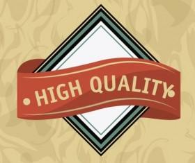 Vintage premium and quality label vector 07