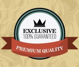 Vintage premium and quality label vector 08
