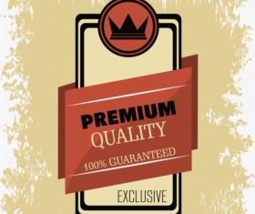 Vintage premium and quality label vector 09