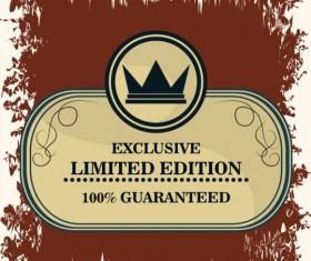 Vintage premium and quality label vector 10