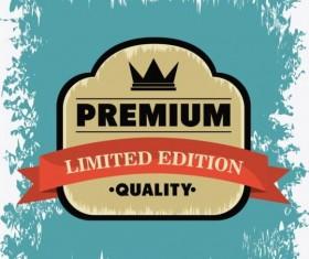 Vintage premium and quality label vector 11