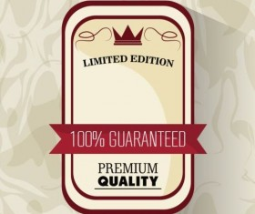 Vintage premium and quality label vector 12