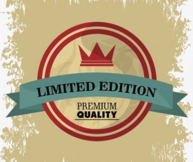 Vintage premium and quality label vector 13