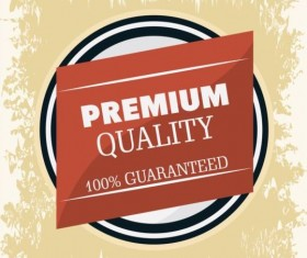 Vintage premium and quality label vector 14