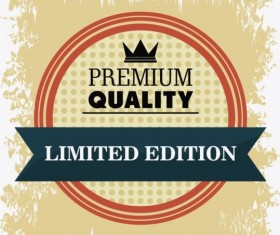Vintage premium and quality label vector 15