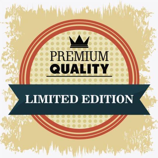Vintage premium and quality label vector 15