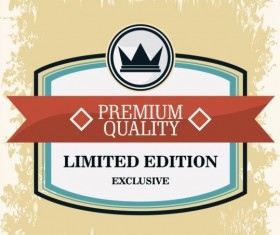 Vintage premium and quality label vector 16