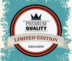 Vintage premium and quality label vector 18