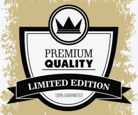 Vintage premium and quality label vector 20
